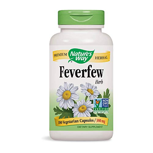 Nature's Way Feverfew; 380 mg TRU-ID Certified Non-GMO Project Vegetarian; 180 Count ()
