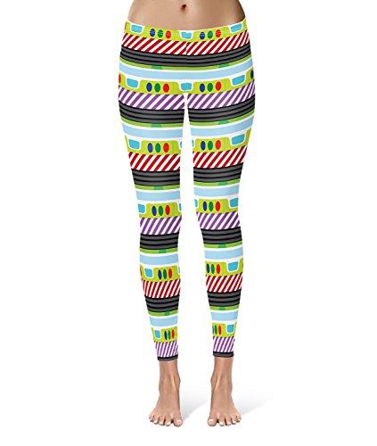 Queen of Cases - Legging de sport - Femme multicolore Multicolore taille unique