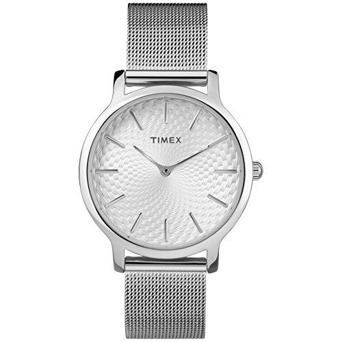 Timex Women's Metropolitan 34mm Mesh Band |Silver-Tone| Dress Watch TW2R36200