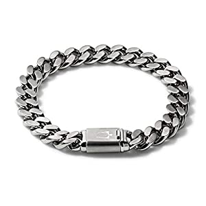 Best Epic Trends 410tTcbxZ%2BL._SS300_ Bulova Mens Classic Stainless Steel Chain Link Bracelet with Brushed Signature Clasp (Model J96B016M), Silver-Tone