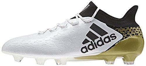 adidas X 16.1 FG, Botas de Fútbol para Hombre Blanco (Ftwbla / Negbas / Dormet)