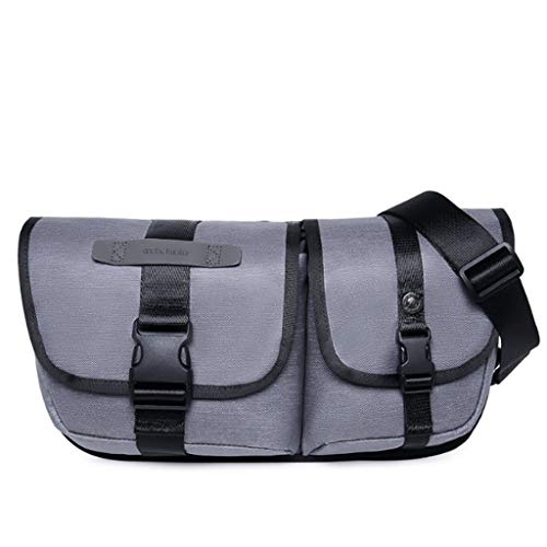 Leisure S Bag Gray Travel Young Men's Light Messenger Student Rxf Gray Size Chest color 0Aacq