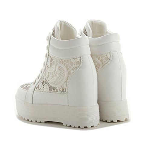 Weiß Weiß Zapatillas Mesh Mujer Mujer Zapatillas JRenok JRenok Mesh JRenok Zapatillas zTqpdwx0z