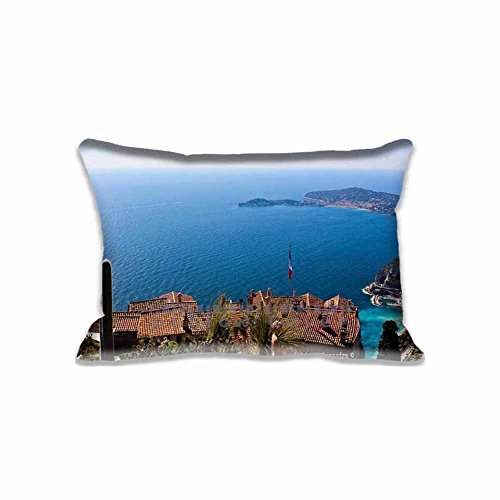 - Noel Bryan Fashion Design Eze, French riviera Standard Size Pillowcases Pillow Cover With 2 Sides Printing