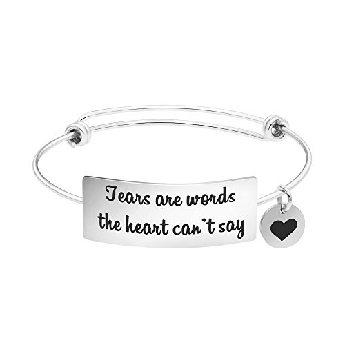 Yiyang Sympathy Gift Bangle Bracelets Loss of Mother, Loss of Dad, Memorial Jewelry Gift for Friend Loss