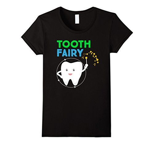 Womens Kids Tooth Fairy Godmother Fairy Tales Novelty T-Shirt Large (Fairy Godmother Costume Amazon)