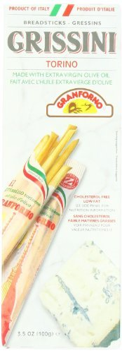 Breadsticks Granforno (Granforno Grissini Breadsticks, Torino, 3.5-Ounce Boxes (Pack of 12) by Granforno)
