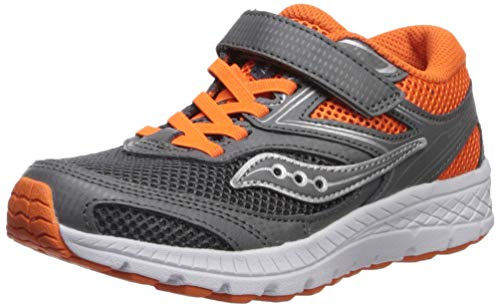 Saucony Boys' Cohesion C Sneaker Grey/Orange 12 M US Little Kid ()