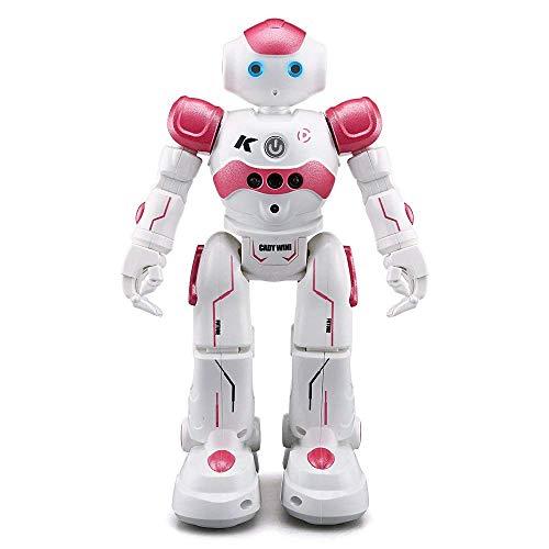 Aeeqee スマート ラジコンロボット ジェスチャーコントロールもできるロボット RCロボット おもちゃ 多機能ロボット 歌と踊りなど リモートコントロール/ジェスチャーコントロール 色選択可能 (ピンク)