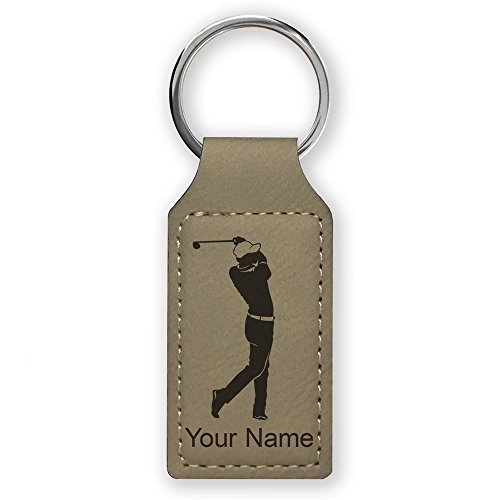 Golfer Golfing, Personalized Engraving Included (Light Brown) ()