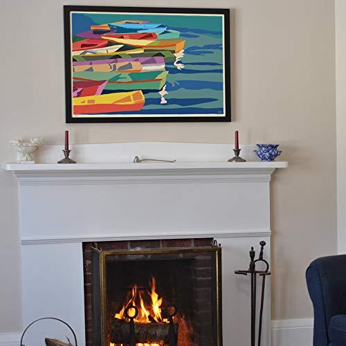 Perkins Cove Dinghies (Horizontal) Framed Art Print (24