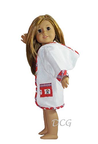 """Terry Cloth Robe For 18"""" American Girl Dolls (Doll Not Included)"""