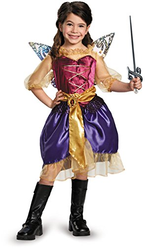 [Disguise Disney's The Pirate Fairy Pirate Zarina Classic Girls Costume, Small/4-6x] (Storybook Fairytale Costumes)
