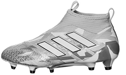 Price comparison product image adidas Kid's ACE 17+ PURECONTROL FG J Soccer Cleats (Sz. 4.5) White Camo