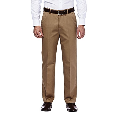 Haggar 41114957522 Men's Work To Weekend Expandable Waist Pant, Brown - 40-31