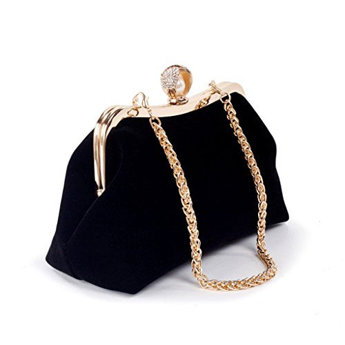 Luxury Black Rhinestone Clutch Bag Black Prom Wallet Evening Women Dabixx Purse Chain Wedding Party 74qYW7IwTF