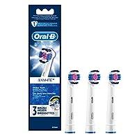 Oral-B 3D White Cepillo de dientes eléctrico Repuesto de las cabezas de los cepillos, 3ct (el color puede variar)