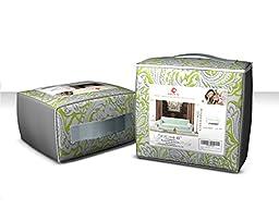 Chunyi 2-Piece Printed Polyester Spandex Sofa Slipcover (Loveseat, Green)