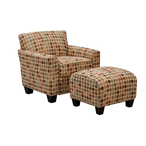 Handy Living Laflin Chair And Ottoman, Retro Egg