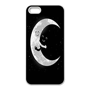 Earth and Moon Hugging iPhone 4 4s Cell Phone Case White DIY GIFT pp001_8958346