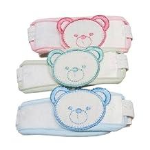 Random Color Bear Infant Diaper Fasteners Toddler Newborn Nappy Snappi Set of 3