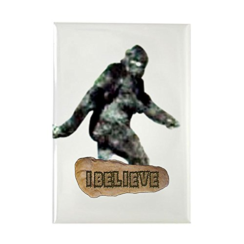 "CafePress - Bigfoot-I Believe Rectangle Magnet - Rectangle Magnet, 2""x3"" Refrigerator Magnet"