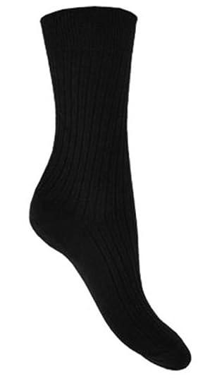 15d53daa7 Hosiery-Direct-UK Men s 6Pk 100% Cotton Soft Elastic Ribbed Suit Socks 6