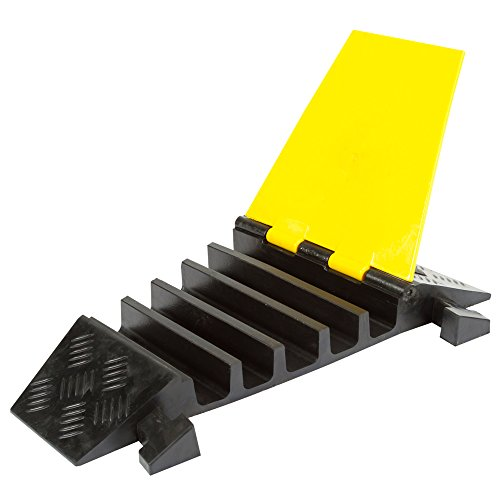 Rage Powersports DH-CP-2R 5 Channel Rubber Cable Ramp Modular Right Turn Corner Section - Section Corner Stand