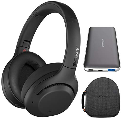 Sony WH-XB900N Extra BASS Wireless Noise Cancelling Headphones (Black) with 10,000mAh PD...