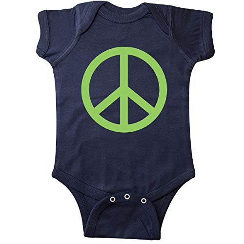Green Peace Sign - inktastic - Peace Sign Green Infant Creeper 6 Months Navy Blue 57d8