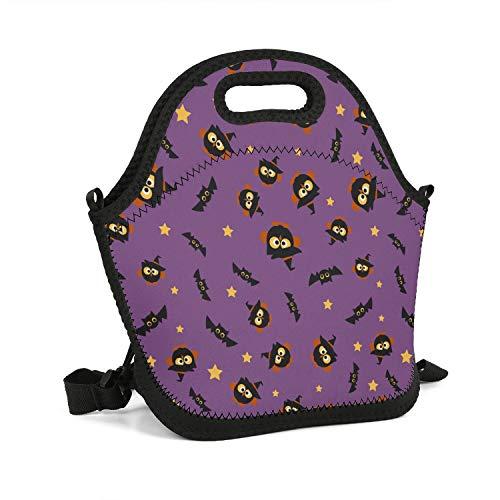 RwdZC Halloween Owls Art Lunch Box Waterproof Adult thermaltote Elegant Bag