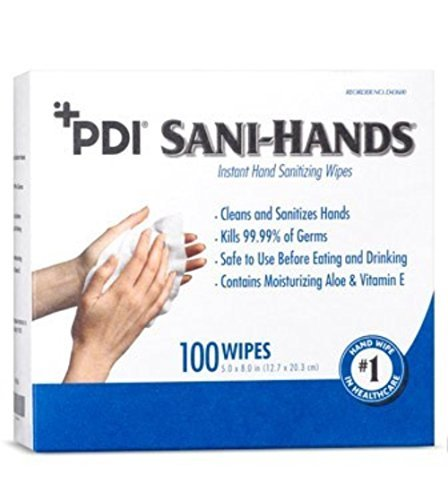 MCK43601101 - Sanitizing Skin Wipe Sani-Hands ALC Individual Packet Alcohol by The PDI Professional Disposables Incorporated