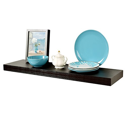 """Review WELLAND 2"""" Thickness Mission Floating Wall Shelf,approx 36-inch Length, Espresso By WELLAND by WELLAND"""
