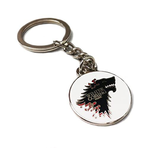 Game of Thrones House Of Stark. Direwolf en acier inoxydable Porte-clŽs. Winter Is Coming