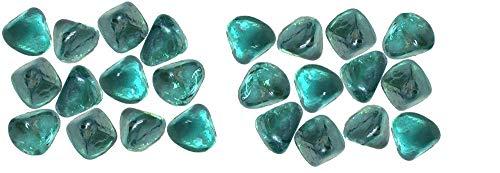 K-Kraft Glass Gems Vase Filler, Table Scatter, Distinctive Craft Accents, 4.4 Pounds (Teal Blue Green)
