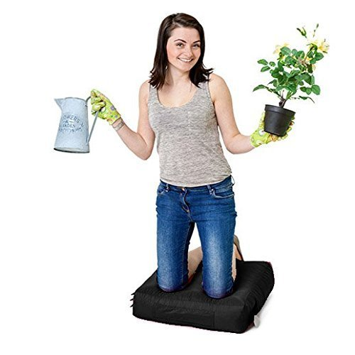 Black Water Resistant Outdoor Gadren Workshop DIY Kneeling Pad Bean Bag with handle and pockets Gardenista