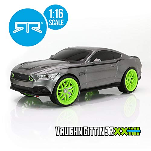 RC CHARGERS Vaughn Gittin Jr. Ford Mustang RTR RC Car | 1:16 Scale, Ready to Rock ()