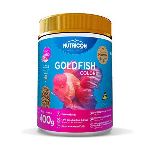 Ração Nutricon Goldfish Color 400g Nutricon Para Todos Os Tipos de Peixe Médio Todas As Fases,