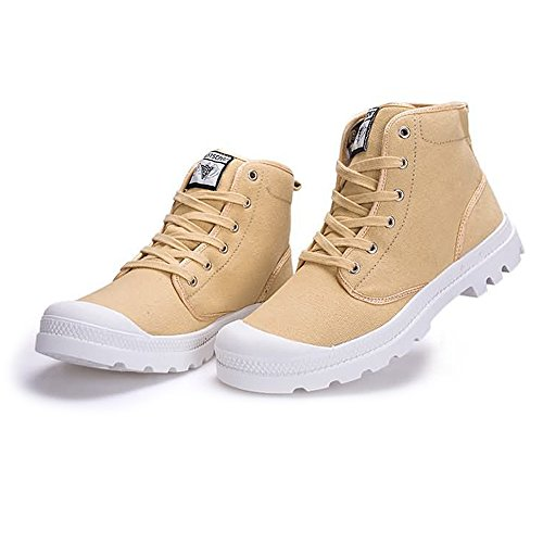 antiscivolo Cachi uomo Size donna Large Outsole 38 taglia Stringate Canvas 2018 Autunno Color Shoes 47EU fino e EU alla Sneaker High Estate moda Top Dimensione wx6qA1Ap