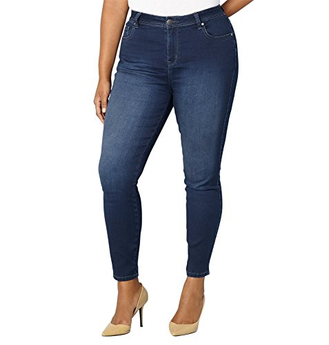 Avenue Denim (Avenue Women's Butter Denim Skinny Jean In Dark, 18 Dark Wash)