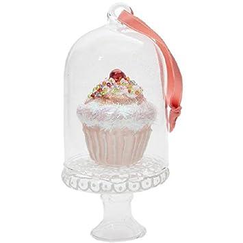 Christbaumschmuck Glas Cupcake Cherry Durchmesser 11 Cm