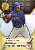 #8: 2017 Bowman's Best 2017 Baseball America Deans List #BADL-RA Ronald Acuna Baseball Card