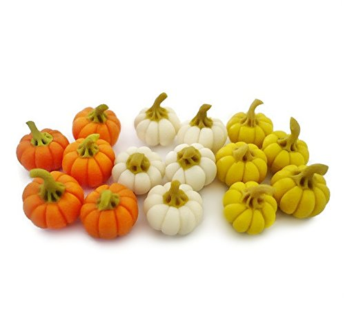 15 Dollhouse Miniature Mixed Color Pumpkins