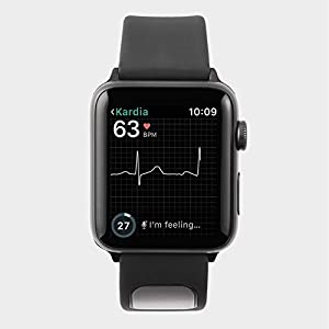 Alivecor® KardiaBand for Apple Watch | Wearable Wristband 30 second EKG | Works with Apple Watch to Evaluate Heart Rhythm | Helps Detect Afib Anytime, Anywhere | No Chest Strap Needed