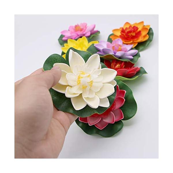 JETEHO-Set-of-8-Artificial-Floating-Foam-Lotus-Flower-Water-Lily-for-Home-Garden-Pond-Aquarium-Wedding-Decor