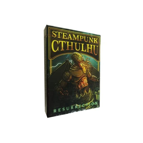 Bicycle Steampunk Cthulhu Resurrection Green Deck by Nat Iwata 3