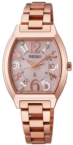 Seiko Lukia Sapphire Glass Super Clear Coating Solar Electric Wave Correction Ssvw050 Ladies Watch Japan Import