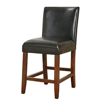 Strange Amazon Com Meadow Lane 24 Inch Faux Leather Barstool Evergreenethics Interior Chair Design Evergreenethicsorg