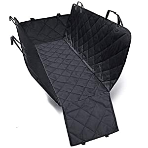 PetVogue Waterproof Pet Seat Cover Car Seat Cover for Pets – Scratch Proof & Nonslip Backing & Hammock, Quilted, Padded…