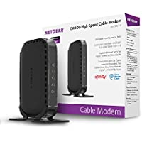 NETGEAR CM400 (8x4) DOCSIS 3.0 Cable Modem. Max download speeds of 340Mbps. Certified for Xfinity from Comcast, Spectrum, Cox, Cablevision & more (CM400-100NAS)